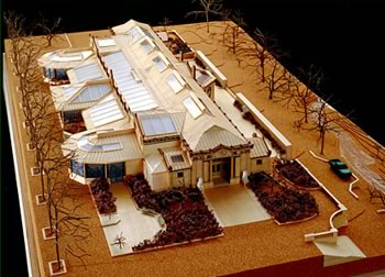 A model of the renovated Bronx Zoo Lion House, a LEED-certified (Gold) landmark. (Photo courtesy of Hohmann & Barnard)