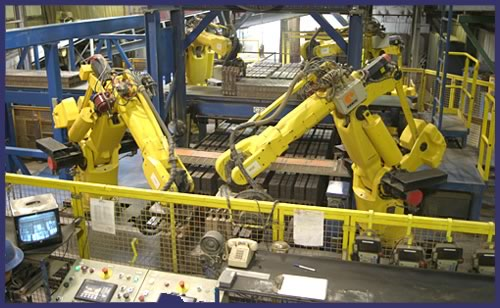 Robinson Brick's automated plant - Photo courtesy of Robinson Brick