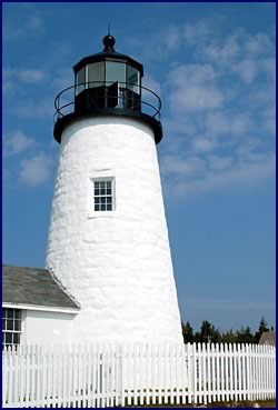Restored Pemaquid Point lighthouse (Bristol, ME)