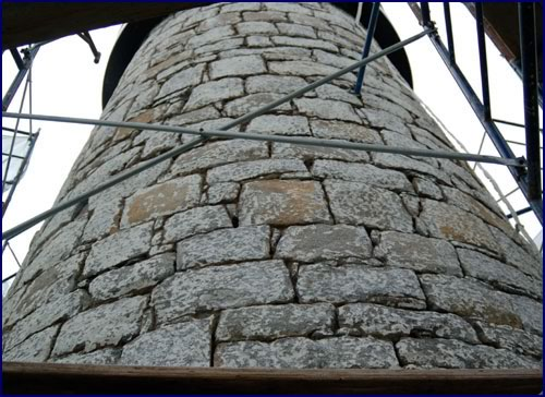 Masonry restoration of the 172 year old Pemaquid Point lighthouse (Bristol, ME)