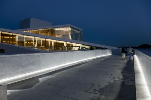 The Oslo Opera House is the centerpiece of an ambitious urban renewal project