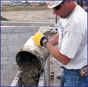 There is no wrong way to grout in terms of lift height selection or placement method; the key to success is ensuring that quality materials go into the wall and that the cores are completely full without voids.