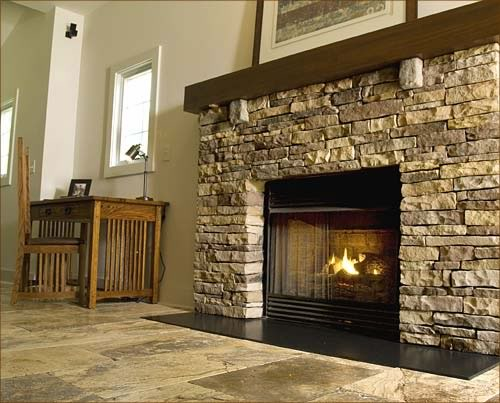 Fireplace - Photo courtesy of Natural Stone Council