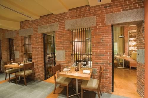 Liberty Hotel, Boston. A prison turned into a luxury hotel.