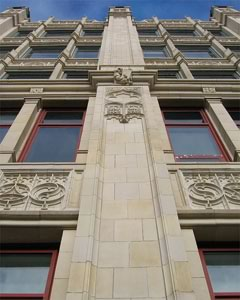 Restoration of Toronto's historic Wesley Building's terracotta cladding