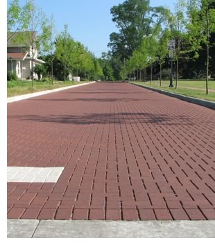 Affordable installation and ease of maintenance convince an Ohio town to repave with permeable clay pavers.