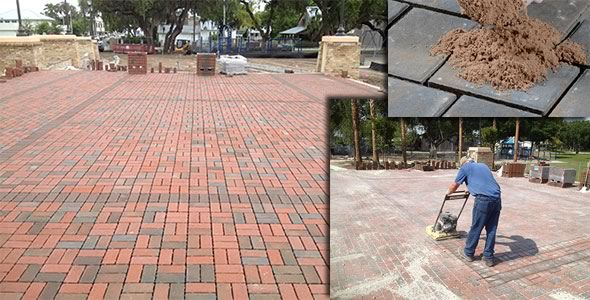 Installation of paver system at Sutton Park in Palmetto, Florida.