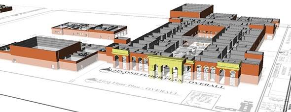 3D model of AH Parker High School in Birmingham, Ala.