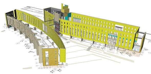 BIM-M modelling for the IU Global and International Studies Building.