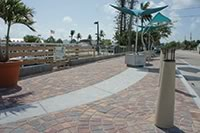 Manatee Bridge walkway, an award winning use of concrete pavers
