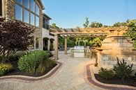 Walkway and arbor at ICIP award winning Packer Residence