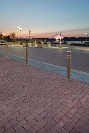 Walkway and driveway at Smother's Park and Riverfront Crossing