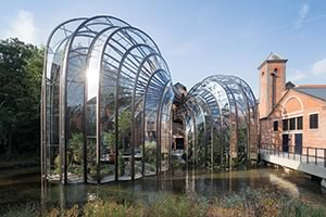 The new Bombay Sapphire Distillery in Laverstoke, Hampshire, UK.