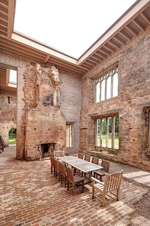 The restored Astley Castle makes the most of available, natural light and provides breathtaking views.