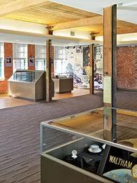 Waltham exhibit restoration mixed-use brick