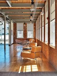 Waltham lobby restoration mixed-use brick