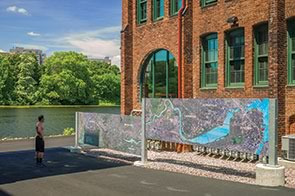 Waltham watch factory map Massachusetts restoration brick