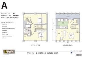 Waltham unit plans floorplans restoration mixed-use brick