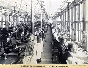 vintage photo Waltham Watch Factory workers