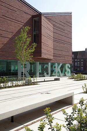 modern masonry design Rijksarchief Bruges Salens Architecten