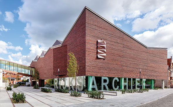 Rijksarchief Bruges Salens Architecten red tape design modern building UNESCO World Heritage Site