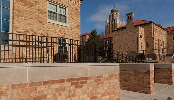 masonry rennovation select blend bricks new addition