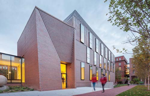 A renovation of Harvard's Tozzer Anthropology Building features a novel approach to digital masonry design from Sheila Kennedy, professor of the practice in MIT's Department of Architecture, and her firm, Kennedy and Violich Architecture (KVA). Photo courtesy of Kennedy and Violich Architecture.