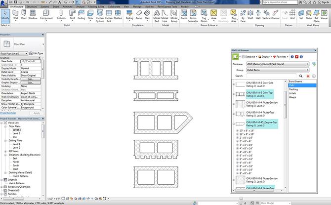 BIM-M REVIT Content – 2D CMU Shapes