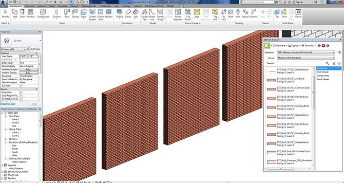 BIM-M REVIT Content – Brick wall hatches