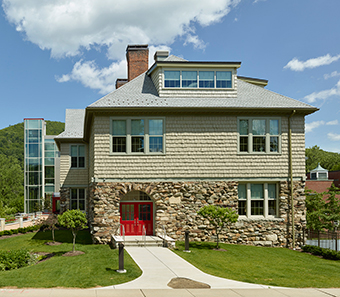 The updated exterior of William Cullen Bryant School building in Great Barrington, Mass.