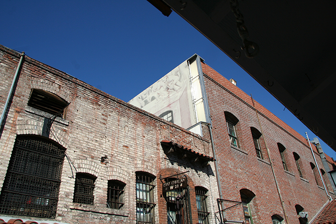 Rear of Italian Hall Building at the El Pueblo de Los Angeles Historic Monument, a historic district that is the oldest section of Los Angeles. Photo: Chukwuma G. Ekwueme, Thornton Tomasetti, Inc.