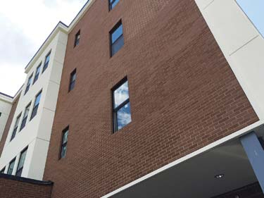 12,000 square feet of NewBrick was installed over the Outsulation Plus MD System by Dryvit on this new-build,  multi-story,  mixed-use project in Schenectady,  N.Y.