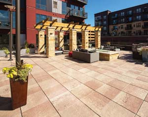 Tectura Designs has added an unparalleled four-color blending process to its portfolio of concrete rooftop, on-grade, and architectural pavers
