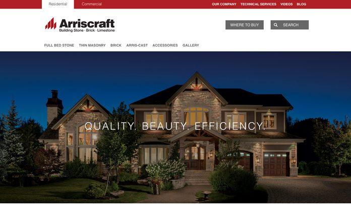 Arriscraft's new website