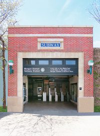 renovation of the historic Morgan Avenue subway station house