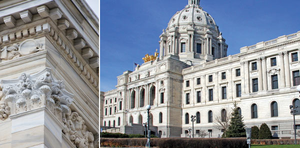 exterior restoration of the Minnesota State Capitol Building in St. Paul