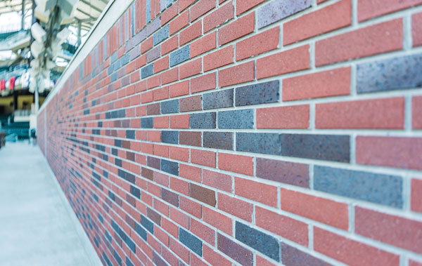 One of the brick walls of SunTrust Park.