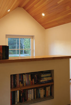 Built-ins using the Comfort Block wall system.