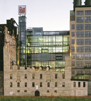 The Mill City Museum is an example of blending new design into old architecture.